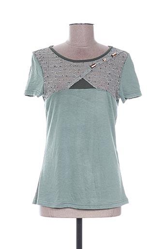 T-shirt manches courtes vert ALL BEAUTIFUL pour femme