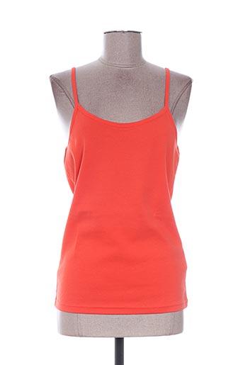 Top orange EMOI BY EMONITE pour femme
