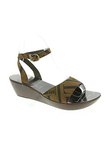 elle chaussures femme de couleur marron