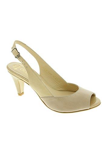 paco herrero chaussures femme de couleur beige