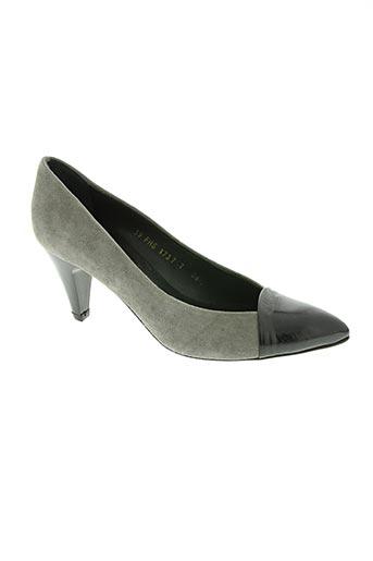 paco herrero chaussures femme de couleur gris