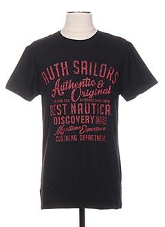 T-shirt manches courtes noir ENGINE pour homme