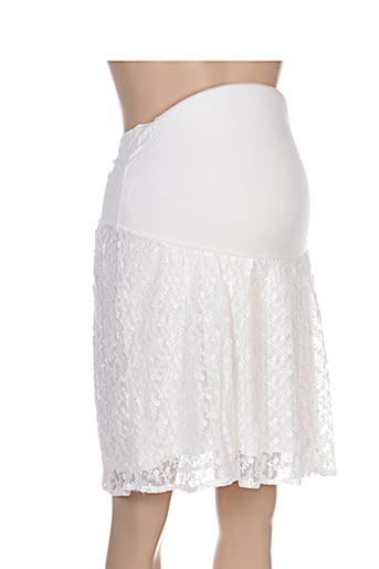 Jupe mi-longue beige COLLINE pour femme