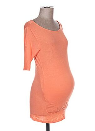 T-shirt manches longues orange COLLINE pour femme