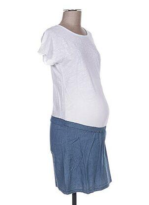Robe mi-longue blanc COLLINE pour femme