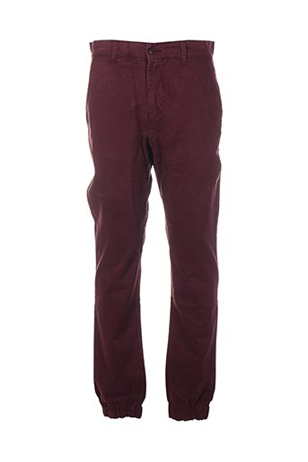 Pantalon casual rouge TWO ANGLE pour homme