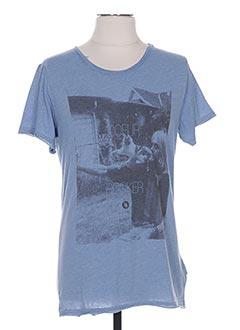 T-shirt manches courtes bleu BOOM BAP pour femme
