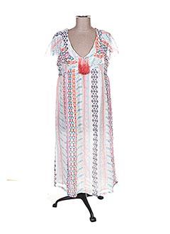 Robe mi-longue blanc ANTIK BATIK pour femme