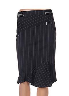 Jupe mi-longue noir ECRU pour femme