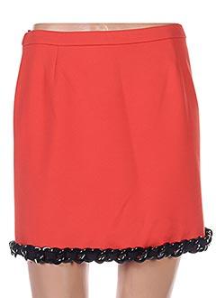Mini-jupe orange MOSCHINO pour femme