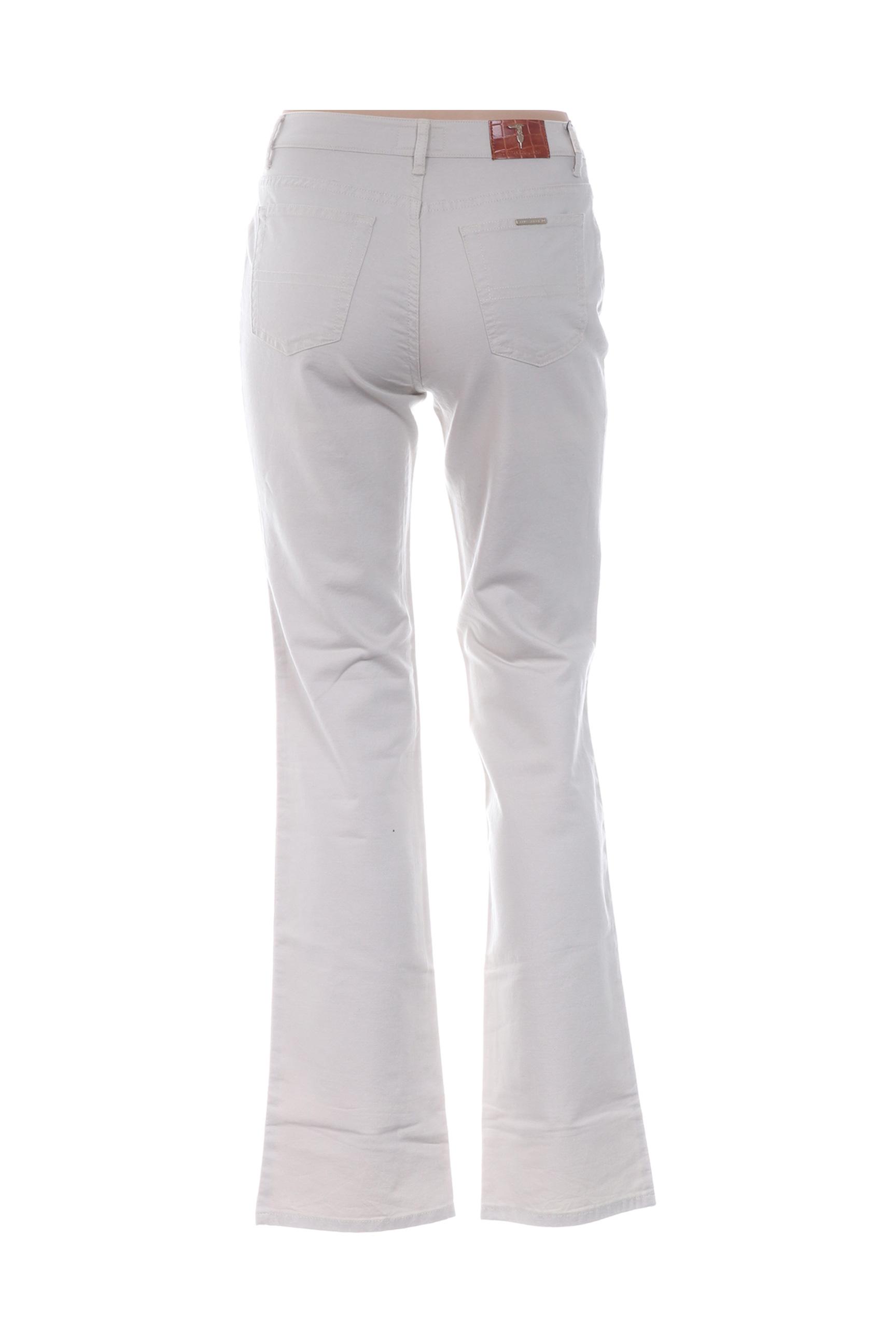 Trussardi Jeans Pantalons Decontractes Femme De Couleur Beige En Soldes Pas Cher 1292459-beige0