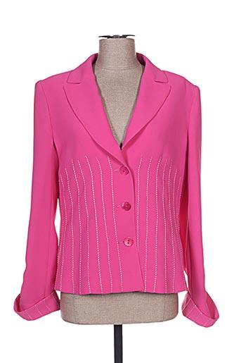 Veste chic / Blazer rose CLAIRE pour femme