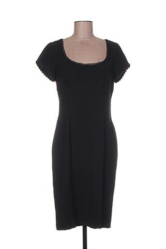 Robe mi-longue noir INFINITIF pour femme