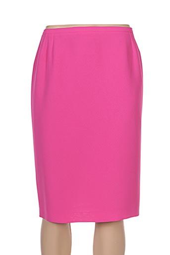Jupe mi-longue rose CLAIRE pour femme