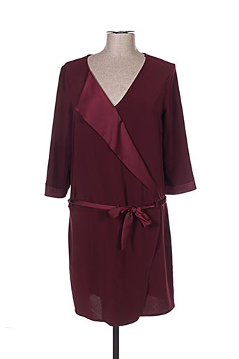 Robe mi-longue rouge EMA BLUE'S pour femme