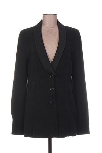 Veste chic / Blazer noir HEL-S pour femme