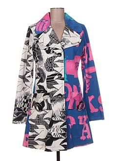 Manteau long bleu CUSTO pour femme