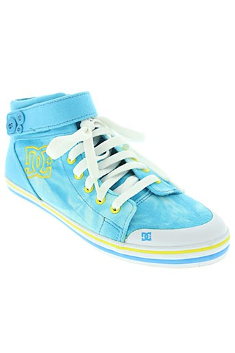 dc chaussures unisexe de couleur bleu
