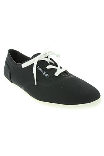 havaianas chaussures homme de couleur noir