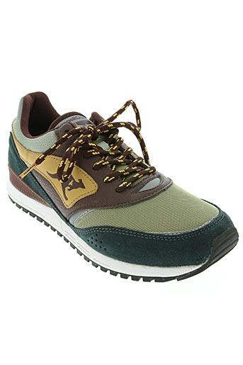 kangaroos chaussures unisexe de couleur vert