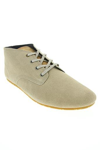 eleven paris chaussures homme de couleur beige