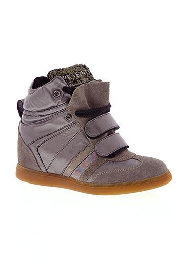 serafini chaussures femme de couleur gris