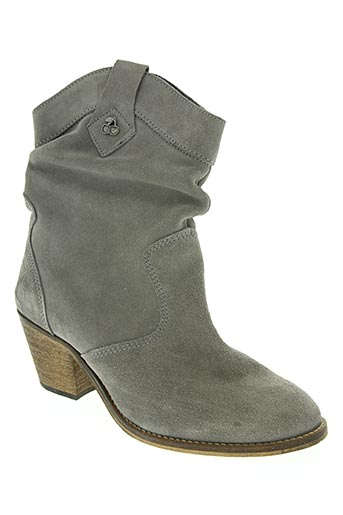 le temps des cerises chaussures femme de couleur gris
