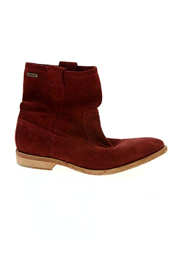 Bottines/Boots rouge BEE.FLY pour femme