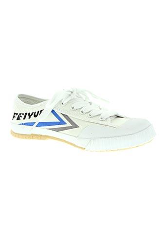 feiyue chaussures femme de couleur blanc