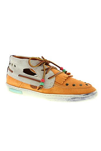 dolfie chaussures homme de couleur orange