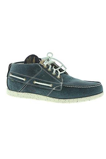 element chaussures homme de couleur bleu