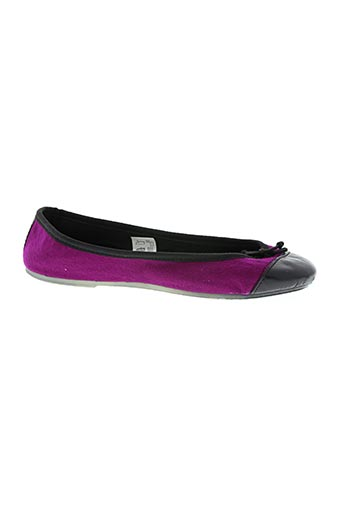Chaussons/Pantoufles violet THE FRENCH TOUCH pour femme