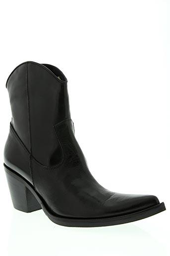 paprika chaussures femme de couleur noir