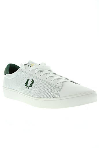 fred perry chaussures homme de couleur blanc