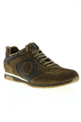 ikks chaussures homme de couleur marron