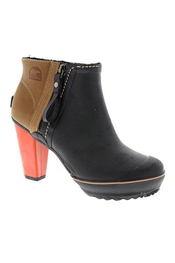 sorel chaussures femme de couleur noir