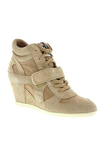 ash chaussures homme de couleur beige