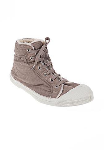 bensimon chaussures unisexe de couleur beige