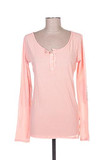 T-shirt manches longues rose I LOVE MY T'S pour femme