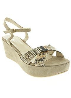 Sandales/Nu pieds beige ADIGE pour femme