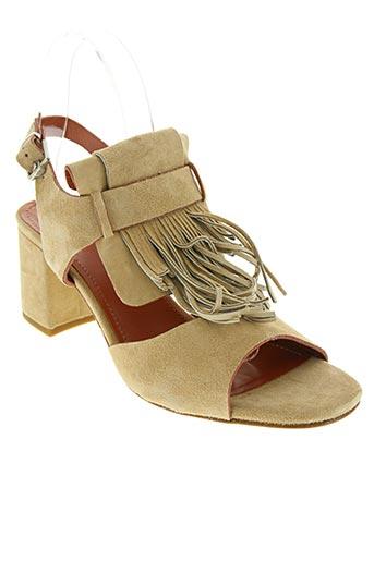 triver flight chaussures femme de couleur beige