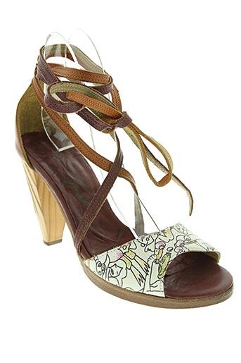verdura chaussures femme de couleur blanc