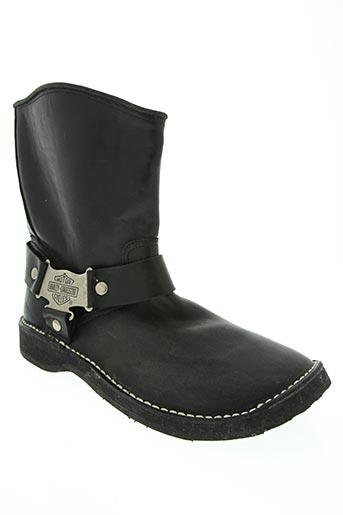 harley davidson chaussures homme de couleur noir