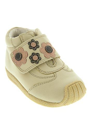 d'bebe chaussures fille de couleur beige