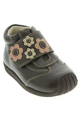 d'bebe chaussures fille de couleur marron