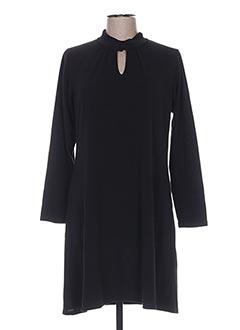 Robe mi-longue noir MARBLE pour femme