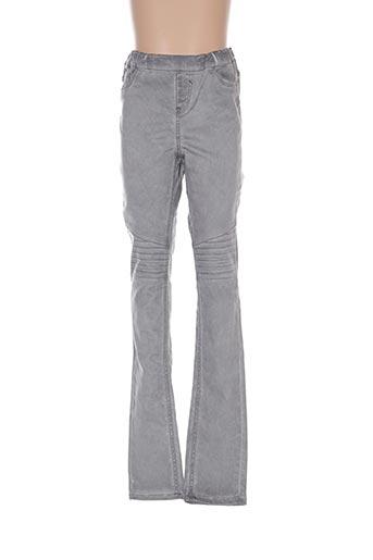 Pantalon casual gris GARCIA pour fille