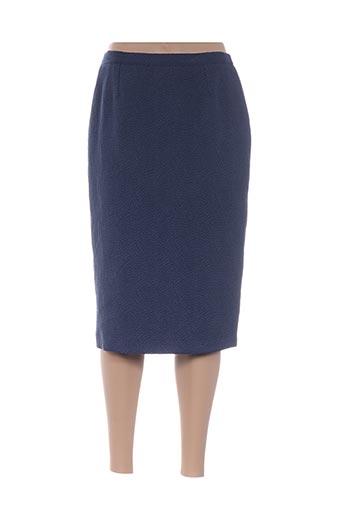 Jupe mi-longue bleu FRANCOIE F pour femme
