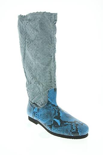 claudy chaussures femme de couleur bleu