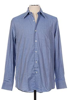 Chemise manches longues bleu ECCE pour homme